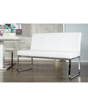 Ławka Simple Biała Do Salonu Poczekalni
