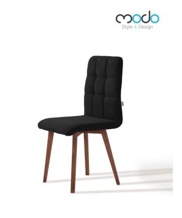 Krzesło Comfort styl skandynawski pikowane siedzisko z drewnianymi nogami