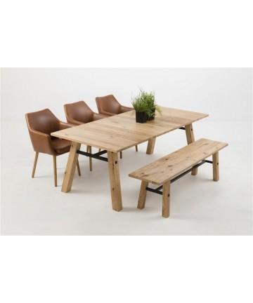Stół Gino 210 drewniany stoły dębowe masywne lite derwno skandynawskie - Actona