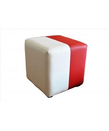 Pufa Classic 1 osobowa na EURO 2016 dla kibica biało czerwona flaga narodowa