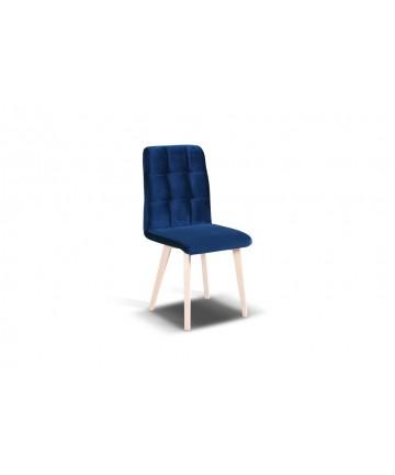 Krzesło Comfort styl skandynawski pikowane siedzisko z drewnianymi nogami tkanina połyskująca velvet aksamit