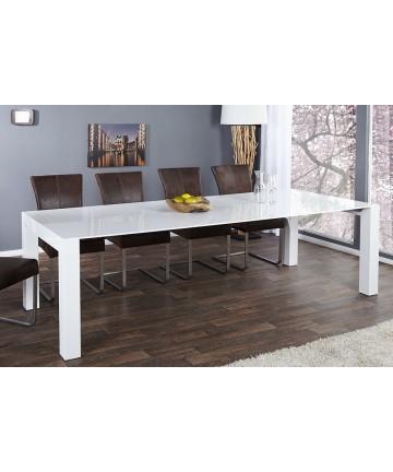 Stół rozkładany 180 - 220 - 260 / 100 biały wysoki połysk