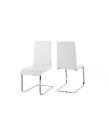 Krzesło Smart White białe skórzane krzesło na płozach