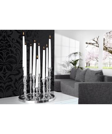 Świecznik Flame Aluminiowy stołowy 9 ramienny