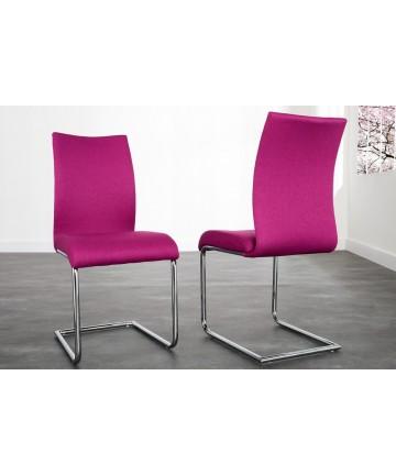 Krzesło Party różowe na płozach