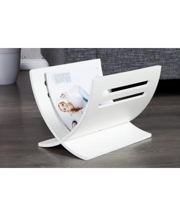 Gazetnik biały funkcjonalny stojak na gazety