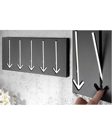 Wieszak Freccia Czarny 5 uchwytów ścienny metalowy na ubrania