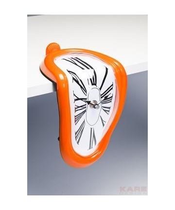 Stołowy Zegar Table Clock Flow Pop Assorted Orange by KARE DESIGN pomarańczowy zegar na biurko