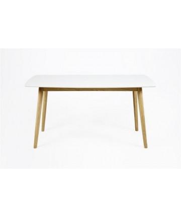 Stół Emi White 150 drewniany stoły białe skandynawskie - Actona