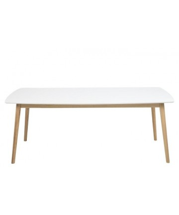 Stół Emi White 180 biały drewniany stoły lakierowane skandynawskie - Actona