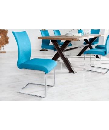 Krzesło Party Niebieskie krzesło na płozach