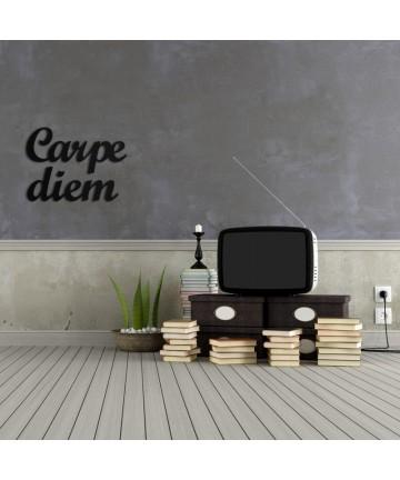 Napis na ścianę CARPE DIEM czarny dekoracja ścienna