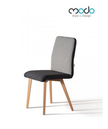 Krzesło Classic Pepitka czarno biała tapicerowane