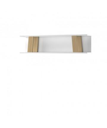 Półka Megi White & Dąb biało dębowa wisząca ścienna