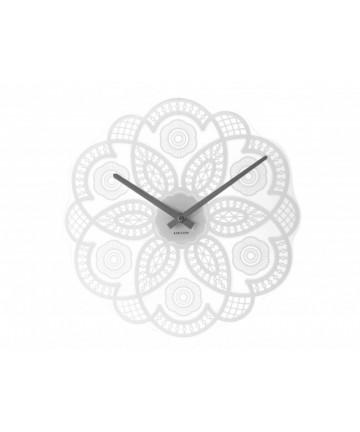 Zegar ścienny Lace Cut Out White