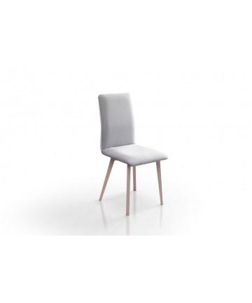 Krzesło Classic Slim styl skandynawski tkanina nogi drewniane