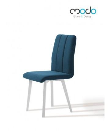 Krzesło Scandy tapicerowane dowolna tkanina nogi białe