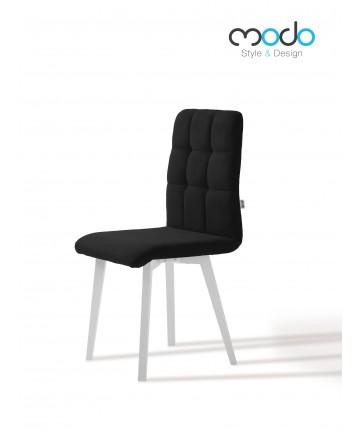 Krzesło Comfort dowolna tkanina tapicerowane nogi białe