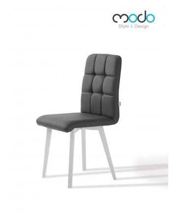 Krzesło Comfort skórzane tapicerowane białe nogi