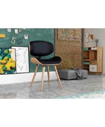 Krzesło Ample Buk drewniane designerskie krzesło z okrągłymi nogami