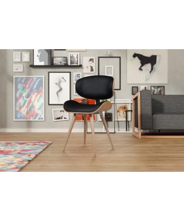 Krzesło Ample Dąb drewniane designerskie krzesło z okrągłymi nogami