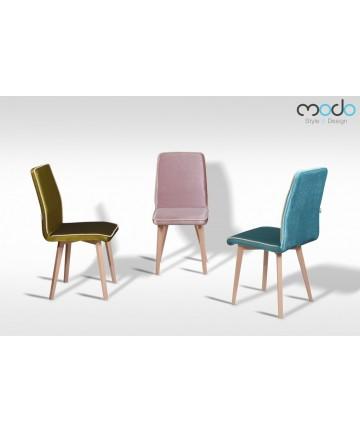 Krzesło Classic Deluxe King ozdobione włoskim sznurkiem drewniane nogi