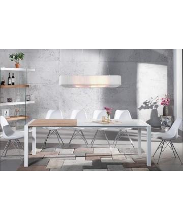 Stół Biało Dębowy Rozkładany 140-215