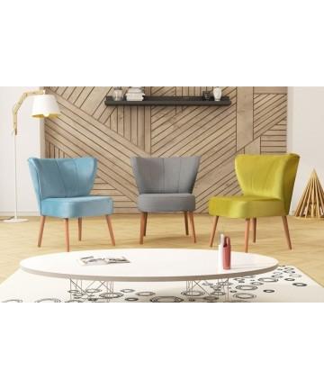 Fotel klubowy Drom tapicerowany dowolna tkanina fotelik klubowy