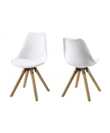 Krzesło Ana Białe nogi drewniane