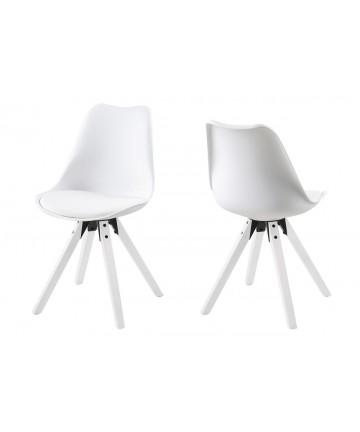 Krzesło Ana Białe nogi białe