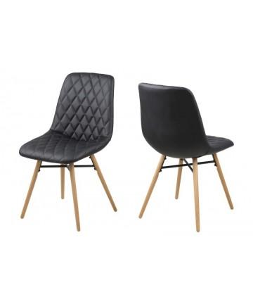 Krzesło Jojo czarne w romby