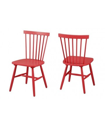 Krzesło drewniane Ricy czerwone do salonu