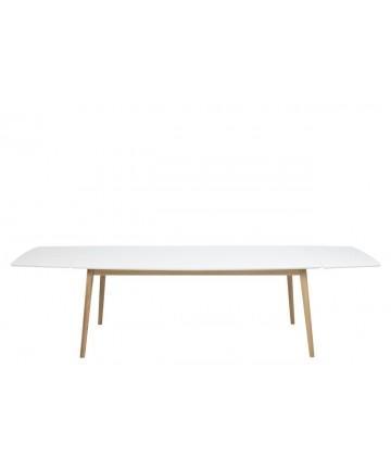 Stół Rozkładany Emi Biały 180-280 stoły drewniane białe skandynawskie