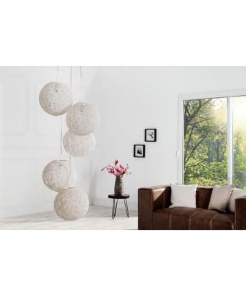 Lampa Sunset cotton balls biała