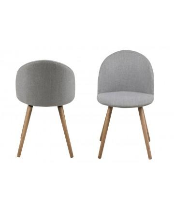 Krzesło Maki jasnoszare nowoczesne