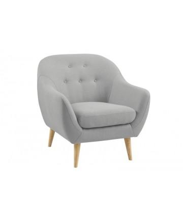 Fotel Pin jasnoszary do salonu
