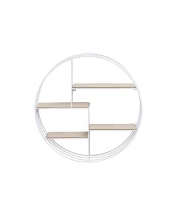 Półka Ring Biała okrągła ścienna wisząca