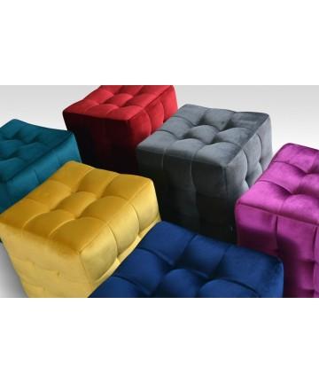 Pufa Pic Comfort Tkanina mix kolorów