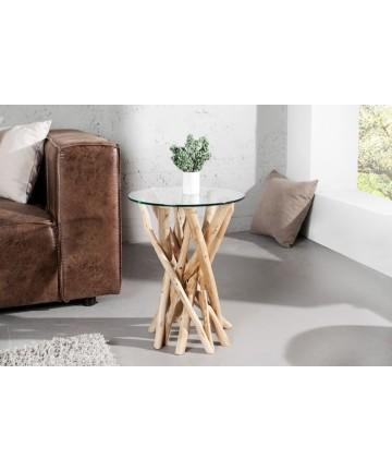 Stolik Wood Ring Teak szklane stoliki drewno tekowe