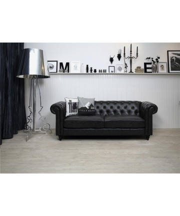 Sofa Charlie 3-osobowa Czarna