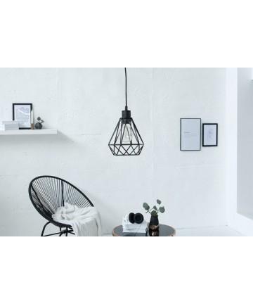 Lampa wisząca Safe czarna do salonu S