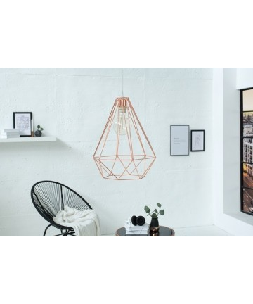 Lampa Safe wisząca do salonu kolor miedziany L