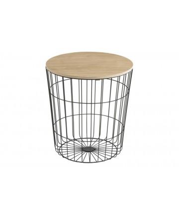 Stolik Basket 39 czarny metalowy