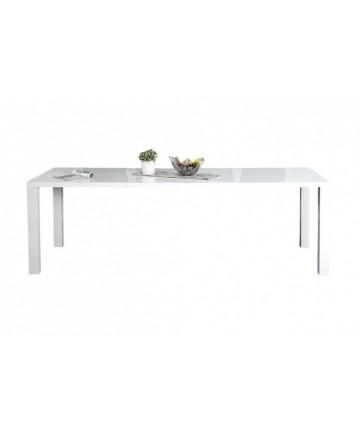 Stół biały rozkładany lakierowany na wysoki połysk 160 - 240 cm