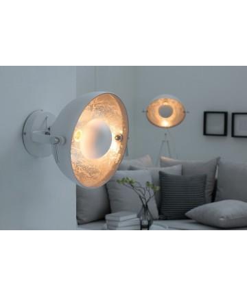 Lampa ścienna Atelier biało srebrna