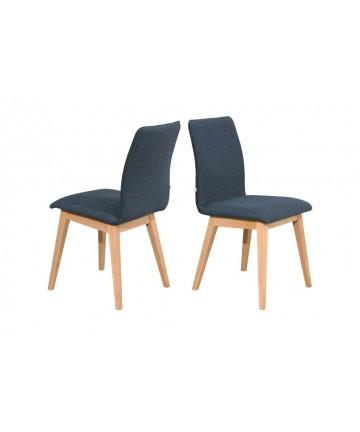 Krzesło Oslo Buk naturalny tapicerowane dowolna tkanina mix kolorów