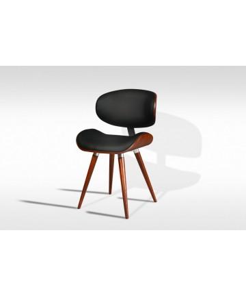 Krzesło Ample Buk orzech skórzane designerskie nowoczesne