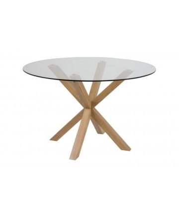 Stół Nivea okrągły 120 szklany blat