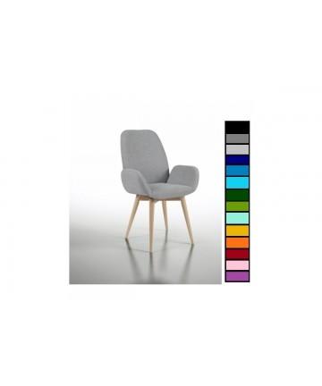Krzesło Mondo tapicerowane dowolna tkanina nogi buk