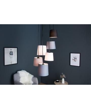 Lampa wisząca Level 6 kloszy do salonu